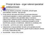 principii de baza organ national specializat antidiscriminare