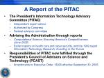 a report of the pitac