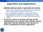 algorithms and applications