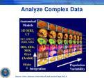analyze complex data