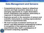 data management and sensors