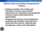 national data and software repositories finding