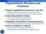 organizational structure and practices