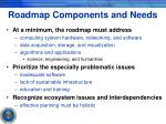 roadmap components and needs