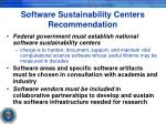 software sustainability centers recommendation