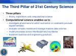 the third pillar of 21st century science