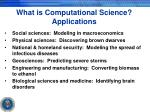 what is computational science applications