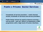 public v private sector services