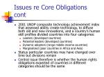 issues re core obligations cont1