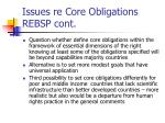 issues re core obligations rebsp cont