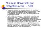 minimum universal core obligations cont fulfill1