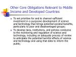 other core obligations relevant to middle income and developed countries