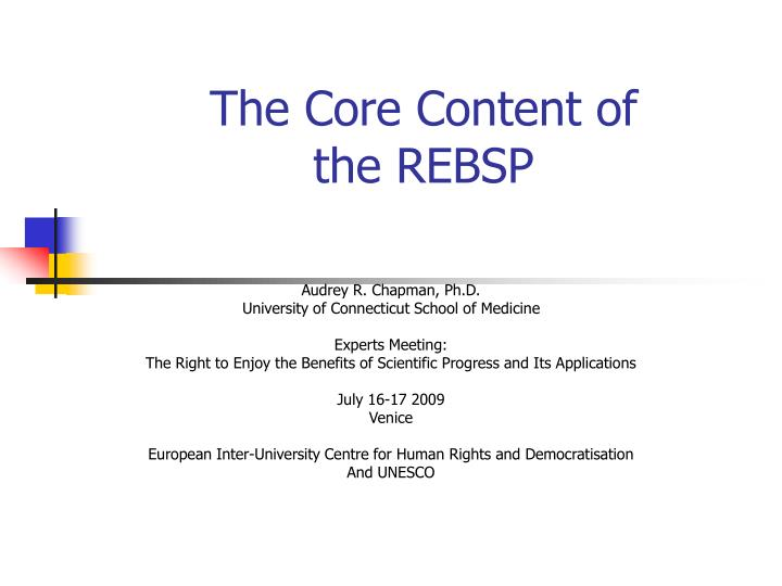 the core content of the rebsp n.