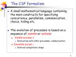 the csp formalism