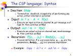 the csp language syntax