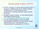 stosowanie kod w cpt pl1