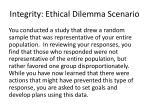 integrity ethical dilemma scenario