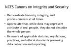 nces canons on integrity and security
