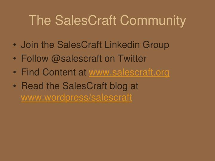 the salescraft community n.