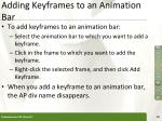 adding keyframes to an animation bar1