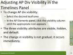 adjusting ap div visibility in the timelines panel
