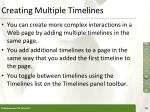 creating multiple timelines