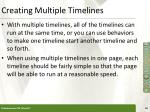 creating multiple timelines1