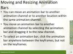 moving and resizing animation bars