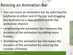 resizing an animation bar