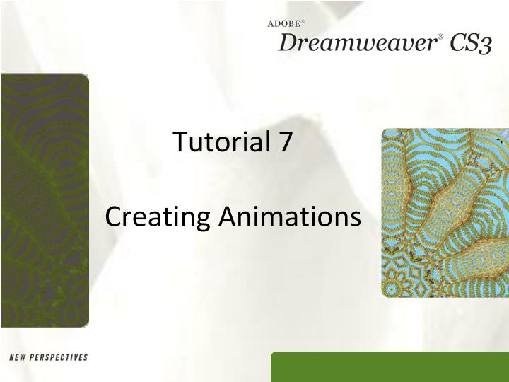 tutorial 7 creating animations n.