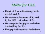 model for csa