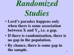 randomized studies