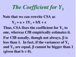 the coefficient for y 1