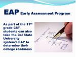eap early assessment program