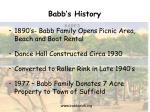 babb s history