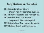 early business on the lakes