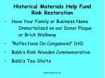 historical materials help fund rink restoration