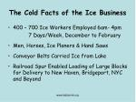 the cold facts of the ice business