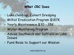 what crc does