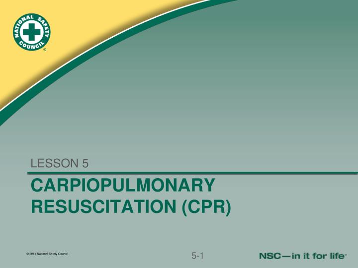 carpiopulmonary resuscitation cpr n.