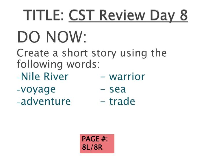title cst review day 8 n.