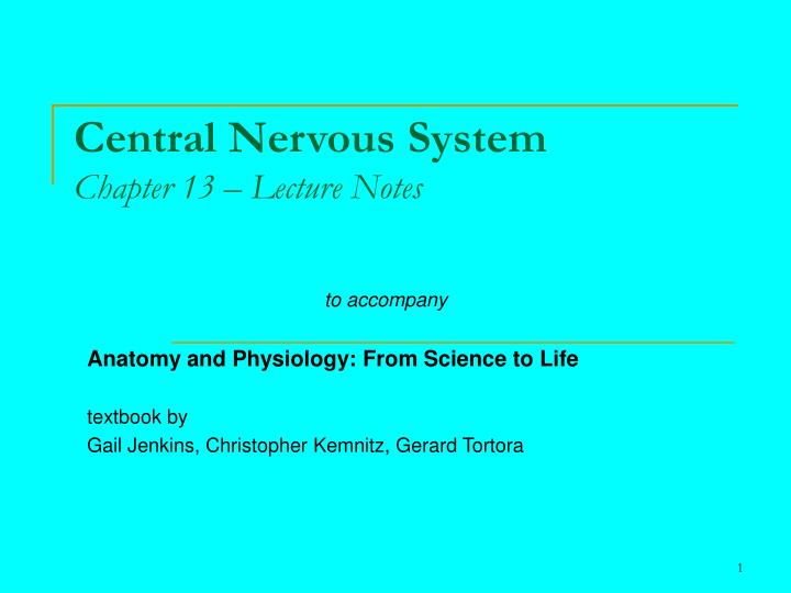 central nervous system chapter 13 lecture notes n.