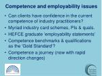 competence and employability issues