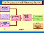 the organizational planning process