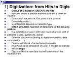 1 digitization from hits to digis