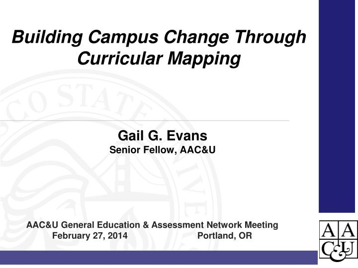 gail g evans senior fellow aac u n.