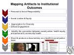 mapping artifacts to institutional outcomes