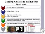 mapping artifacts to institutional outcomes1