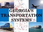 georgia s transportation systems