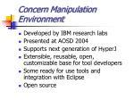 concern manipulation environment
